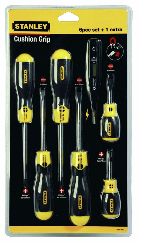 stanley hand tools storage screwdrivers cushion grip sets 6 piece cushion grip flared. Black Bedroom Furniture Sets. Home Design Ideas