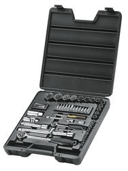 52-Piece 1/4'' & 1/2'' Socket Set
