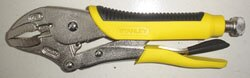 Curved Jaw Locking Pliers with Bi-material Handle