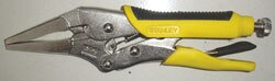 Straight Jaw Locking Pliers with Bi-material Handle