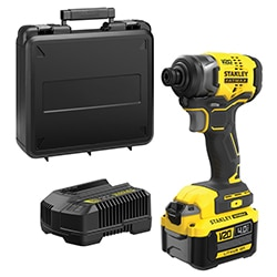 18V STANLEY® FATMAX® V20 Brushless Impact Driver with 1 x 4.0Ah batteries and Kit Box