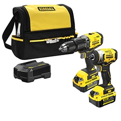 18V STANLEY® FATMAX® V20 Brushless  2-Piece Kit with Charger and Soft Bag
