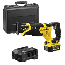 18V STANLEY® FATMAX® V20 Reciprocating Saw with 1 x 4.0Ah Lithium-Ion Battery and Kit Box