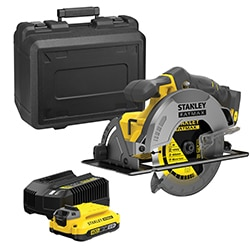 18V STANLEY® FATMAX® V20 Circular Saw with  1x 2.0Ah Lithium-Ion Battery and Kit Box