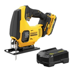 18V STANLEY® FATMAX® V20 Jigsaw with 1 x 2.0Ah Lithium-Ion Battery and Kit Box
