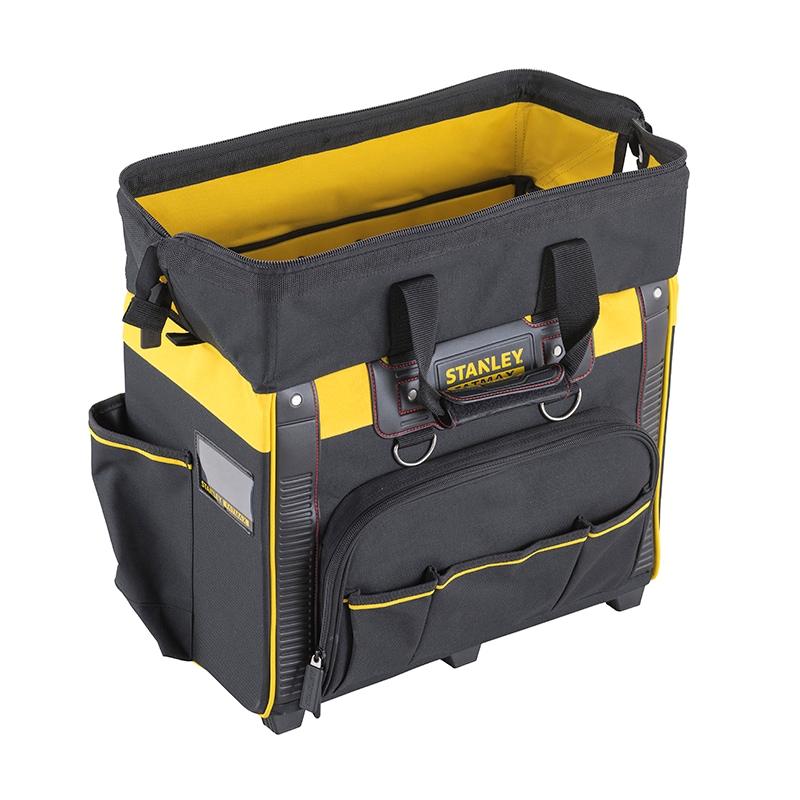 stanley hand tools storage tool storage storage bags stanley fatmax bag on wheels. Black Bedroom Furniture Sets. Home Design Ideas