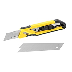 Snap Off Blade Knife - Self Locking - 18 mm.