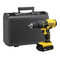 STANLEY® FATMAX® 18V 1.3Ah Li-Ion Hammer Drill Driver with Kit Box