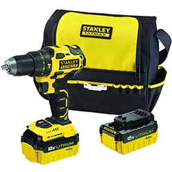 STANLEY FATMAX 18V Brushless Hammer Drill with 2x 4.0Ah Batteries, Charger and Softbag Promo Kit