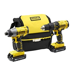 STANLEY® FATMAX® 18V Hammer Drill & Impact Driver Combo Kit