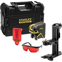 STANLEY® FATMAX® Cross Beam and 5 Spot Red Beam Laser Level