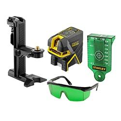 STANLEY® FATMAX® 5bodový laser s projekcí kříže - zelený paprsek