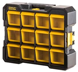 Organizer cassettiera portatile con vaschette basculanti