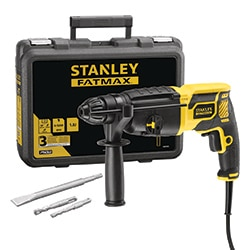 STANLEY® FATMAX® 750W 1.8J SDS-Plus Pneumatic Hammer Drill with Kit box (Kingfisher Exclusive)