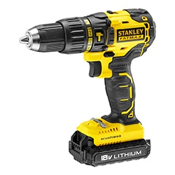 STANLEY® FATMAX® 18V 2.0Ah Brushless Hammer Drill Driver in Kit Box (Kingfisher Exclusive)
