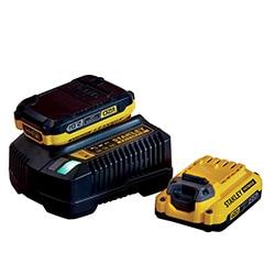 V20 - Kit 2 batteries Lithium-ion 18v 2 Ah + 1 chargeur 18V 2 Ah STANLEY® FATMAX® (SFMCB12D2)