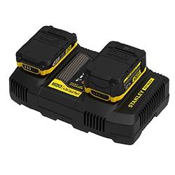 18V STANLEY® FATMAX® V20 4.0Ah Dual Port Charger (SFMCB24)