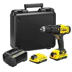 STANLEY® FATMAX® V20 18V Schroefklopboormachine met 2x 1.5Ah accu's en koffer