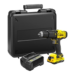18V STANLEY® FATMAX® V20 Hammer Drill with 1 x  2.0Ah Lithium-Ion Batteries and Kit Box