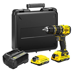 STANLEY® FATMAX® V20 18V Perceuse-visseuse à percussion Brushless avec 2x 2.0Ah batteries et coffret (SFMCD721D2K)