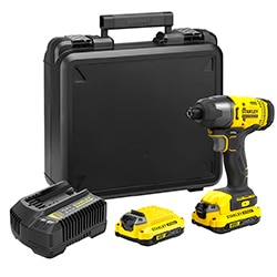 18V STANLEY® FATMAX® V20 Impact Driver with 2 x 1.5Ah Lithium-Ion Batteries and Kit Box