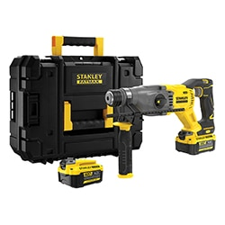 18V STANLEY® FATMAX® V20 Brushless SDS Plus Hammer Drill with 1 x 4.0Ah Battery and Kit Box