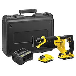 18V STANLEY® FATMAX® V20 Reciprocating Saw with 2 x 2.0Ah Lithium-Ion Batteries and Kit Box