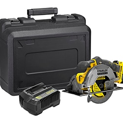 18V STANLEY® FATMAX® Circular Saw with 1 x 4.0Ah Lithium-Ion Battery and Kit Box