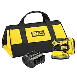 18V STANLEY® FATMAX® V20 Random Orbit Sander with 1 x 2.0Ah Lithium-Ion battery