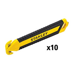 Coltello di sicurezza bi-material monouso - doppio taglio - conf. 10 pezzi