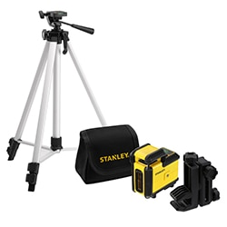 STANLEY® 360° Cross Line Green Beam Laser Level with tripod and pouch