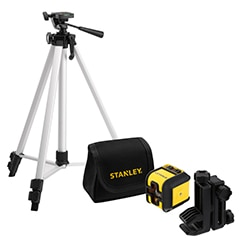 STANLEY® Cubix™ Cross Line Red Beam Laser with tripod and pouch