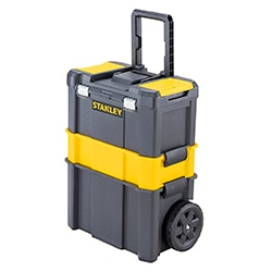 STANLEY® Essential™ rolling workshop with metal latches