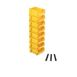 Set 8 pz vaschette modulari - colore giallo