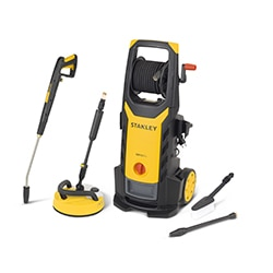 STANLEY® 2100W Electric Pressure Washer with Deluxe Patio Cleaner and Fixed Brush