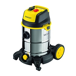 STANLEY® 30L Stainless Steel Wet and Dry Vacuum Cleaner with power tool connectivity