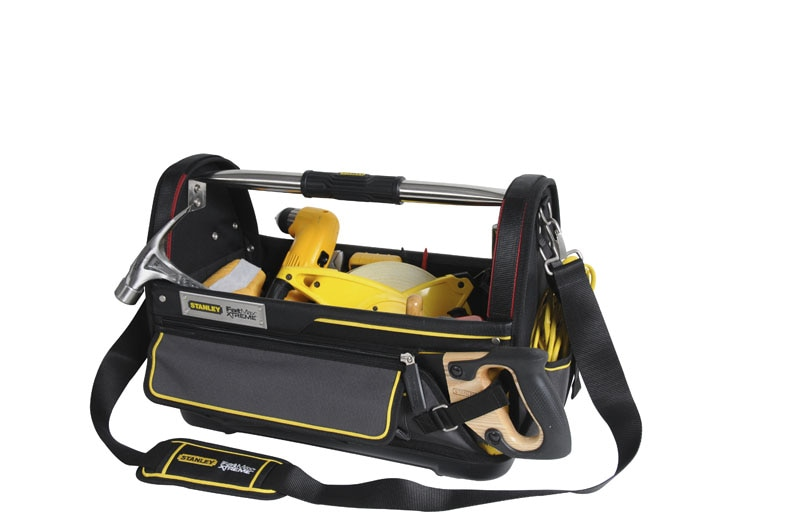 stanley storage tool bags stanley fatmax pro open tote bags. Black Bedroom Furniture Sets. Home Design Ideas