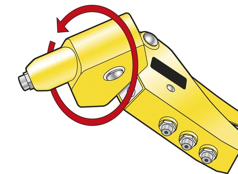 Stanley  Metal  Rivet Tool  Yellow MR77 Swivel Head