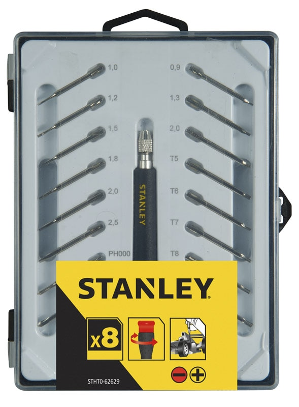 stanley hand tools storage screwdrivers stanley screwdriver sets 16 piece precision. Black Bedroom Furniture Sets. Home Design Ideas