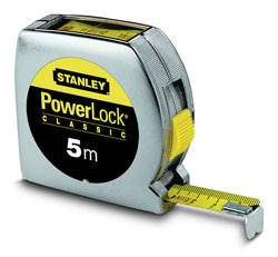 STANLEY® PowerLock® 5M (19mm wide) Tape Measure with top reader