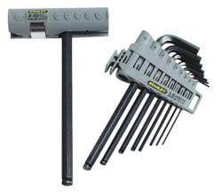 9dílná sada šestihranných zástrčných klíčů s kuličkou v nasazovací rukojeti