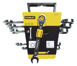 STANLEY® Set of 6 Maxi Drive Plus Combination Ratchet Spanners