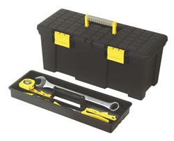 Tool Box with Flat Top & Tray