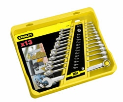 STANLEY® 13-pc Long Panel Combo Wrench - Full Chrome finish