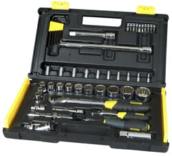 STANLEY® 50-Piece 1/4 & 1/2 Uptier Socket Set