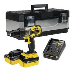 18V SFM Slageboremaskine + 2 x 4.0Ah batterier i værktøjskasse