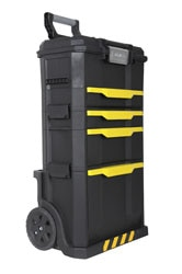 STANLEY® Modular Rolling workshop with on touch latch toolbox + drawer