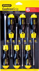 Stanley Cushion Grip Screwdrivers Sets