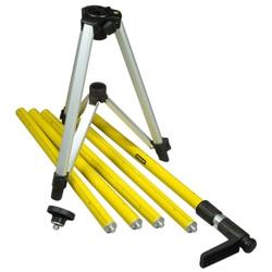 Teleskopická rozpěrná tyč s trojnožkou