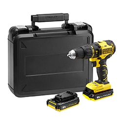 STANLEY® FATMAX® 18V 2.0Ah Brushless Hammer Drill Driver in Kit Box